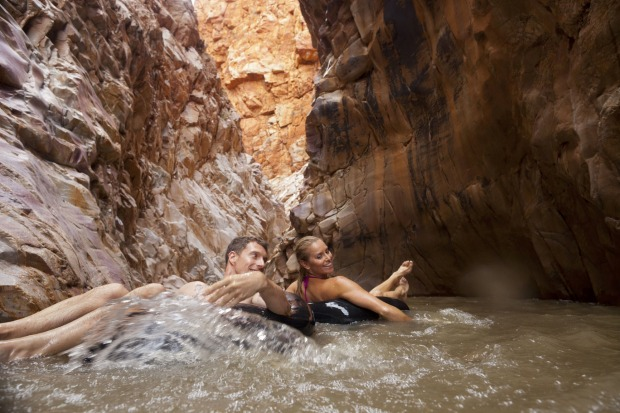 REDBANK GORGE- Tucked at the base of Mount Sonder, this near-permanent waterhole just begs for a pool float or airbed ...