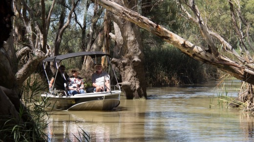 Boat trip on the Murray.