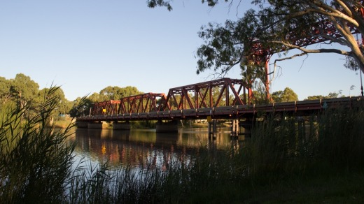 Bridge along the Murray.