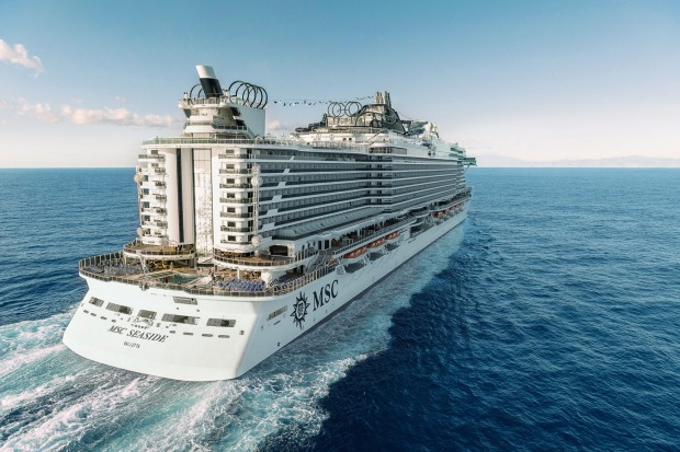 The 4134-passenger (5179 full capacity) MSC Seaside.