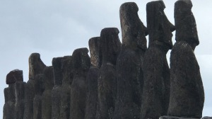 The majesty of the moai is, surprisingly, felt when you stand behind them, according to the author.