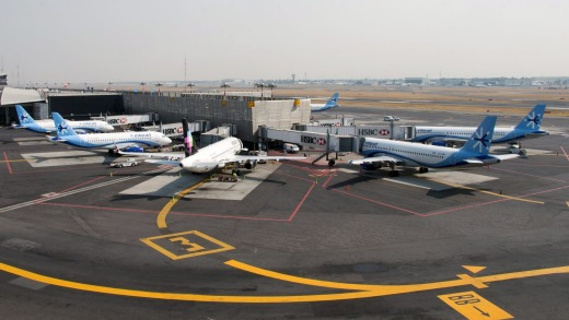 Interjet planes sit on the tarmac at Benito Juarez International Airport in Mexico City.