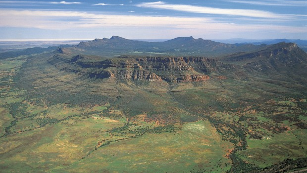 Taking to the skies is the best way to appreciate Wilpena Pound.