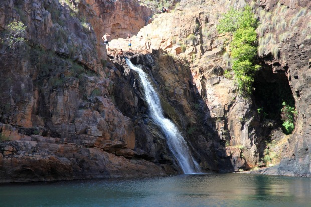 MAGUK-An emerald pool, screened by pandanus palms, misted by a waterfall and circled by some of the oldest rocks in the ...