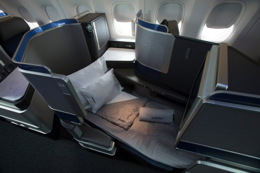 United Airlines' Polaris business class.