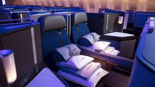 Business class is the new first class: United Airlines' Polaris business class.