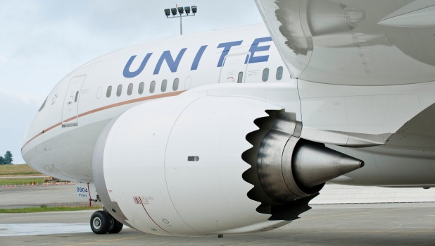 United Airlines 787 Dreamliner.