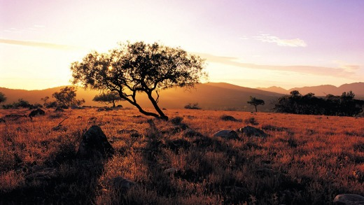 Sunset on the outback: South Australia.