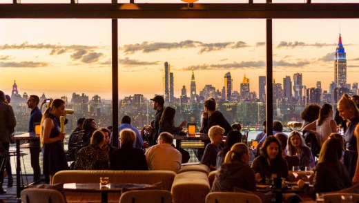 The view over Manhattan from Westlight bar.