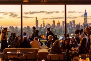''The best view of Manhattan in New York'' can be found at Westlight at the William Vale Hotel in Brooklyn's trendy ...