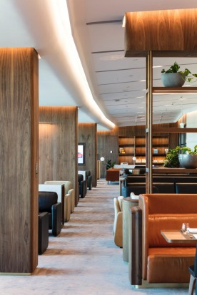 Qantas' top-tier, invite-only Chairman's Lounge in Brisbane.