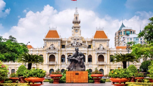 Shore Thing_Ho Chi Minh City Hall The Ho Chi Minh City Hall, built 1902-1908 in a French colonial style in Ho Chi Minh ...
