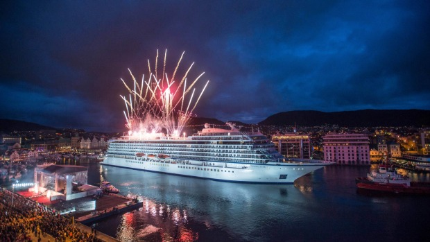 Viking Star christening in Bergen, Norway.