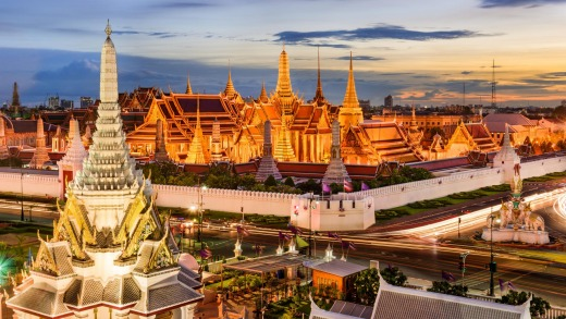 Temple of the Emerald Buddha and Grand Palace, Bangkok.
