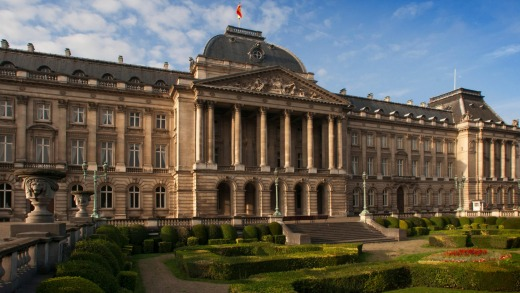 The royal palace in the centre of Brussels, Belgium.