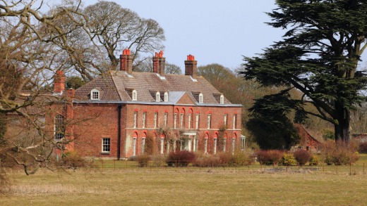 Anmer Hall, at Anmer in Norfolk on the Sandringham estate.