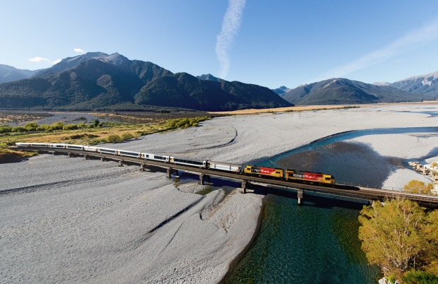 5. TRANZALPINE RAILWAY If a train travels 223 kilometres for nearly five hours from Christchurch to Greymouth and stops ...