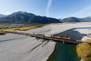 TranzAlpine Waimakariri Bridge.