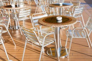 There are designated indoor and outdoor areas on cruise ships for smokers.