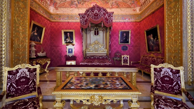 The Duke of York room in Monaco's royal palace.