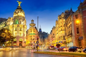 Gran Via in Madrid, where tapas is more than a dish, it's a way of life.