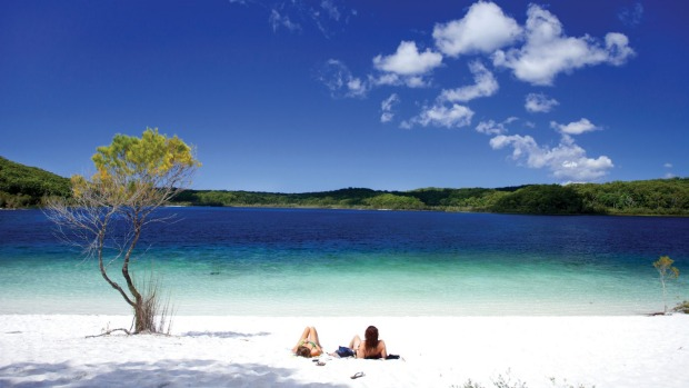 The iconic Lake McKenzie.