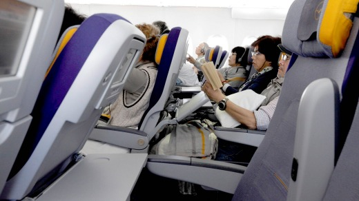 how to stop airplane seats reclining