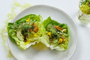 Avocado lettuce cups.