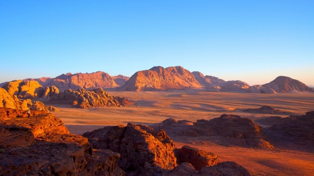 The stark, unforgettable landscape of Wadi Rum, Jordan.