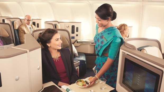Gracious service in business class aboard the new SriLankan Airlines A330-300.