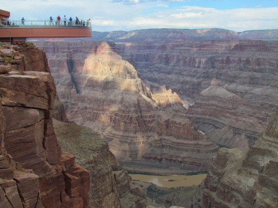 GRAND CANYON SKYWALK: WHERE Grand Canyon West, Arizona, US. HEIGHT 1450 metres above sea level, with a vertical drop ...