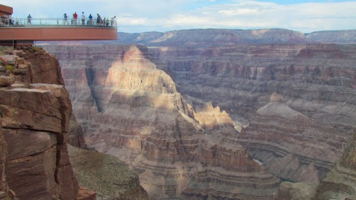 The Skywalk at the Grand Canyon, US.