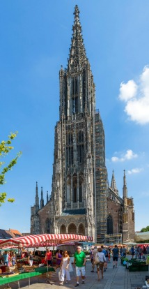 ULM MINSTER: WHERE Ulm, Germany. HEIGHT 161.5-metre spire with access to 143 metres. VERTIGO FACTOR Prior to Before the ...