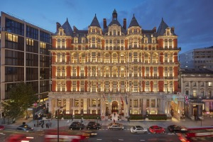 Exuberant exterior, refurbished interior - the Mandarin Oriental Hyde Park, London.