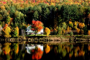 Autumn foliage in Maine, New England.