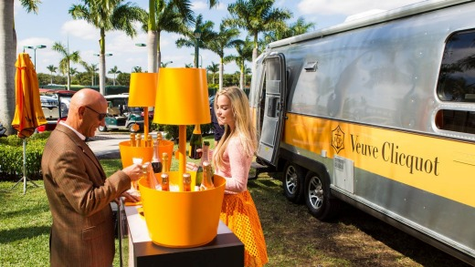 The Veuve Clicquot flows like water at the Palm Beach International Polo Club.