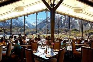 The Alpine Restaurant at the Hermitage Aoraki Mount Cook, New Zealand.