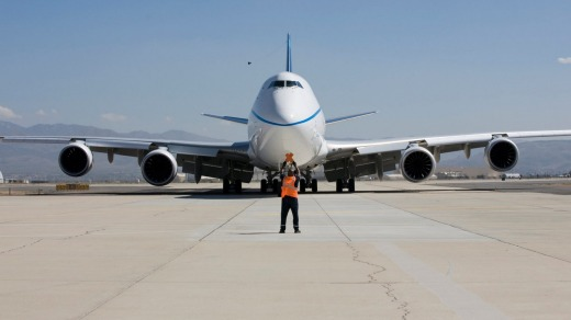 Boeing received four new orders for its 747-8 jumbo jet freighter, which will help extend the life of the veteran plane.