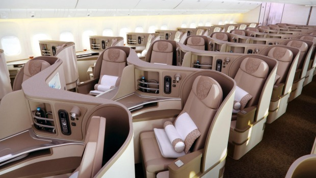 China Eastern Airlines Boeing 777 business class.