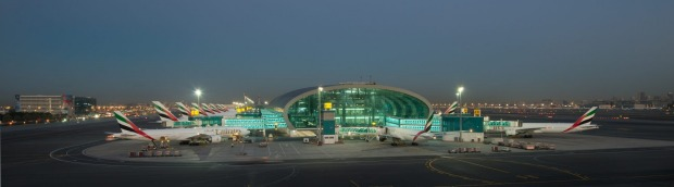 Dubai airport handles almost entirely international flights and is the hub for the Middle East's largest airline, Emirates