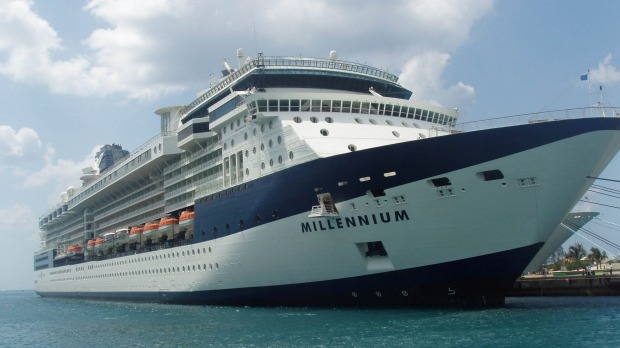 Celebrity Millennium sails between Seward and Vancouver in 2019.