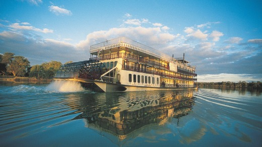 Captain Cook Cruises offers seven-night  cruises on the paddle-wheeler Murray Princess.
