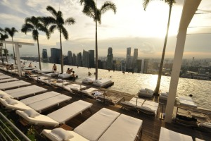 Marina Bay Sands infinity pool.