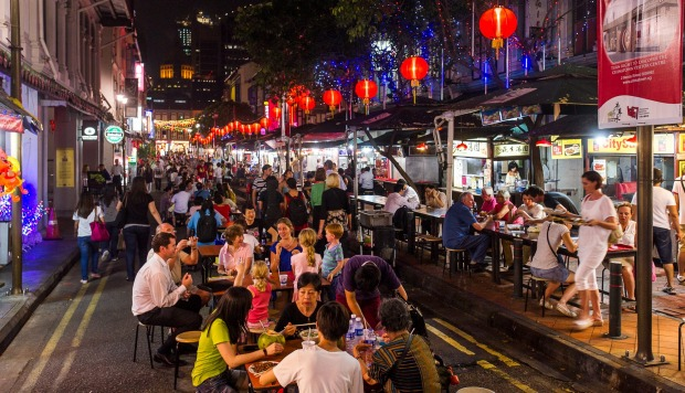 Travellers can take a break while exploring Chinatown to enjoy local food. At Chinatown Food Street, the area has been ...