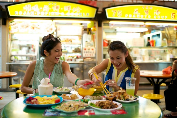 Eating is a popular pastime in Singapore.