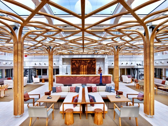 The Wintergarden on board Viking Sun.