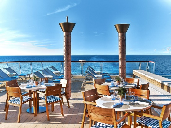 Viking Sun Aquavit Terrace.