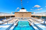 The main pool on board Viking Sun.