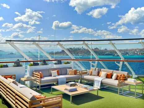The sports deck on Viking Sun.