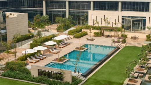 Andaz Delhi. The five-star hotel is right next door to India's Indira Gandhi International Airport.